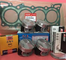 YCP P29 75mm Teflon Coated Pistons HighC.+Bearing+Genuine Gasket+Rings HondaD16