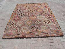 """Turkish Kilim Rug ,Rug,Kilim Rug , Rugs ,Area Rugs ,71"""" x110"""", Cicim Rug ,Carpet"""