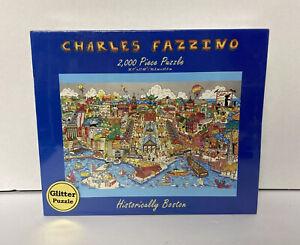 WOW GLITTER Puzzle! Historically Boston Charles Fazzino 2000 Piece New Sealed