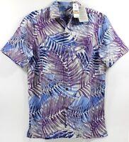 Tommy Bahama San Juan Fronds-Lt Sky Island Zone Silk Blend Camp Shirt $135