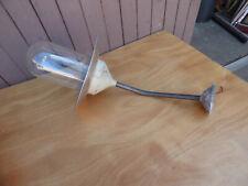Alte Metallschirmlampe-Glaskolbenlampe-Industrielampe-Art Deco Bauhaus XXL