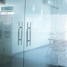 Privacy Frosted Stripe Window Glass Film Bathroom Office Frosting Removable Deco