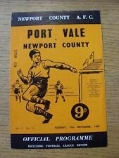 21/11/1967 Newport County V PORT VALE