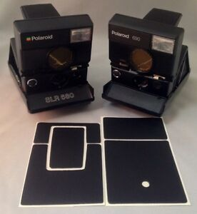 Polaroid SLR680 PolaSkinz Full Grain Nappa Leather Black Replacement Skin SX70.