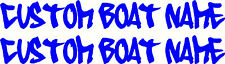 Custom Personalised Boat Name Sticker Decal Set of 2 - 1400mm each