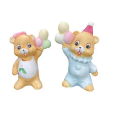 Salt & Pepper Shakers Vintage Birthday Bears Balloons