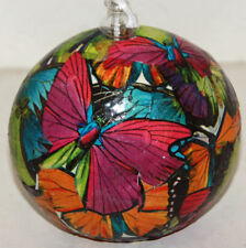 gourd oil lamp or candle with butterflies