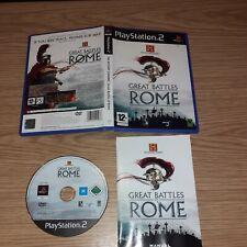 Great Battles of Rome Playstation ps2 History Channel-komplett-Versandkostenfrei
