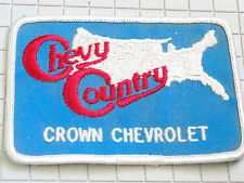 Chevy Country Crown Chevrolet Patch (#4714) *