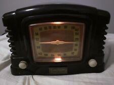 VTG Radio Shack Model 12-696 Radio Receiver AM/FM/Tape Deck Art Deco Gold Dial