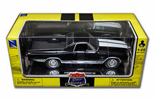 New Ray 1970 Chevy el Camino Ss 396 Negro 1/25 de Metal Cars 71883