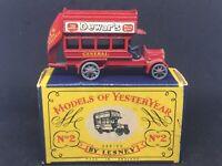 Matchbox Yesteryear Y2 A6 1911 'B' Type London Bus w Orig Type A Box