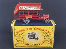 Matchbox Yesteryear Y2 A6 1911 'B' Type London Bus w Orig Type A Box