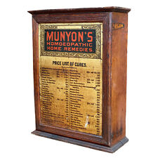 Antique Oak Munyon's Homoeopathic Apothecary Cabinet Advertising Display