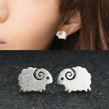 One Pair Silver Plated Sheep Earrings For Women Ears Stud Fine Jewelry VP