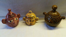 A TRIO OF PRICE KENSINGTON 1960'S NOVELTY STORAGE JARS WITH FUNNY FACES