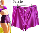 AU STOCK AMERICAN STYLE APPAREL METALLIC ROCKABILLY DISCO PANTS SHORTS P034