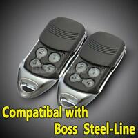 2x BOL4 BOL6 BRD1 Garage Door Remote Control for Boss Guardian BHT4 Steel Line