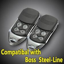 2x BOL4 BOL6 BRD1 Garage Door Remote Control for Boss Guardian BHT4 Steel Line