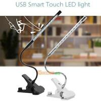 Adjustable USB Reading LED Touch Dimmable Flexible Solid Clip Desk Lamp Light