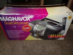 Magnavox Model AZ1508  Boom Box Stereo CD Cassette Player NEW IN BOX