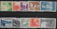 US Scott #740-49, Singles 1934 National Parks FVF MH/MNH