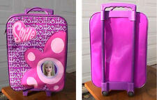GIRLS SMILE/CUTE PURPLE ROLLING LUGGAGE/SUITCASE WITH RETRACTIBLE HANDLE