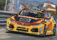 Canvas 2018 Honda Civic Type R TCR #9 Tom Coronel (NED) by Toon Nagtegaal (OE)