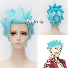Rick And Morty Sky Blue 30cm Anime Cosplay Wig Heat Resistant Party Wig Hair