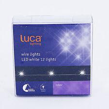del Noël Pile CLAIR FIL 1.1M x 12 Blanc Lumières