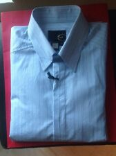JUST CAVALLI MENS $420.00 NWT LIGHT BLUE SHIRT SIZE: MEDIUM MADE IN ITALY 🇮🇹