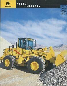 Equipment Brochure - New Holland - LW170 190 230 270 Wheel Loader 1999 (E6343)