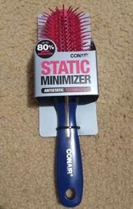 """Conair Static Minimizer Medium All Purpose hair Brush 9"""" Long NWT"""
