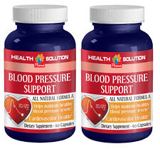 Blood pressure naturally BLOOD PRESSURE SUPPORT COMPLEX heart support -2 Bottles