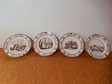 4 Assiettes faience fine Choisy le Roi XIX 19 siecle céramique française