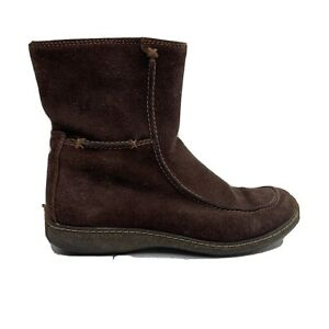 Timberland Fuax Fur Lined Boots Womens Size 9 M Brown Fuzzy Suede Winter Bootie