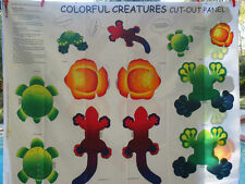 Colorful Creatures Cut Out Panel Quilt Fabric - 1 Panel