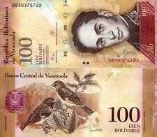 VENEZUELA 100 Bolivares Banknote World Paper Money UNC Currency Pick p93i 2015
