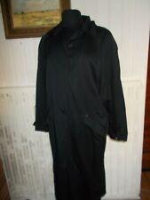 Trench coat manteau long imperméable viscose/coton noir NEW MAN 42 ceinture