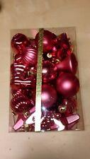 40 tlg Christbaumkugeln,Weihnachtskugeln,Baumschmuck - Pink - 4-8cm - bruchfest