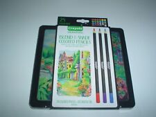 Crayola Signature Blend & Shade Colored Pencils 24 Colors With Tin New