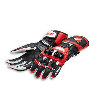 Original Ducati Speed Air C1 Gloves Motorcycle Gloves Alpinestars Leather Red
