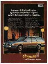 1984 OLDSMOBILE Cutlass Cruiser Vintage Original Print AD Woodie car French CA