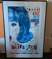 HAIRSPRAY Framed Poster Signed, Original Broadway Cast Members, Collectible mint