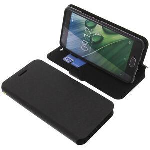 Tasche für Acer Liquid Z6 Plus Book-Style Schutz Hülle Handytasche Buch Schwarz