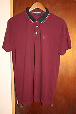 DKNY Jeans Men's Maroon Polo Shirt Size XL