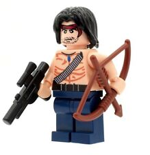 Custom Designed Minifigure - Rambo with Bow & Arrow