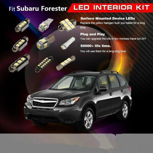 8x LED White Light Car Aftermarket Interior Bulbs Fit 2009-2014 Subaru Forester