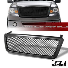 MATTE BLACK FOR 2004-2008 FORD F150 LUXURY MESH UPPER FRONT BUMPER GRILL GRILLE