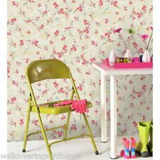 Shabby Chic Butterflies & Blossom Wallpaper by Holden Decor, Beige Background